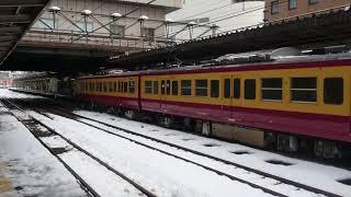 ニイ115系N40+N3編成 回送発車 長岡駅 2018.1.29