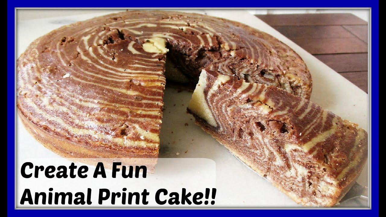 HOW TO MAKE A HOMEMADE ZEBRA CAKE AN AWESOME ANIMAL PRINT CAKE