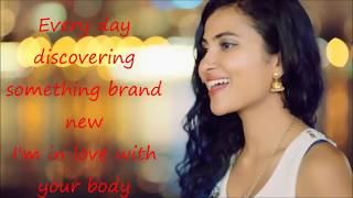 """... lyrics video for vidya vox mashup cover of """"shape you"""" by ed sheeran and """"chee..."""