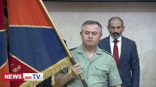 Մովսես Հակոբյանը ԳՇ նորանշանակ պետ Արտակ Դավթյանին փոխանցեց ԶՈՒ-ի ռազմադրոշը