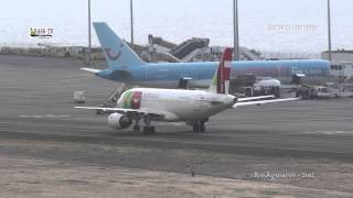 Madeira Airport landings and takeoffs Monday morning. Various airlines.