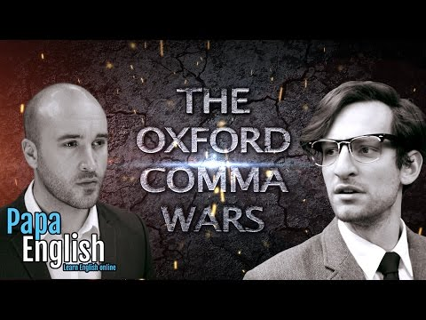 The Oxford Comma wars are over!