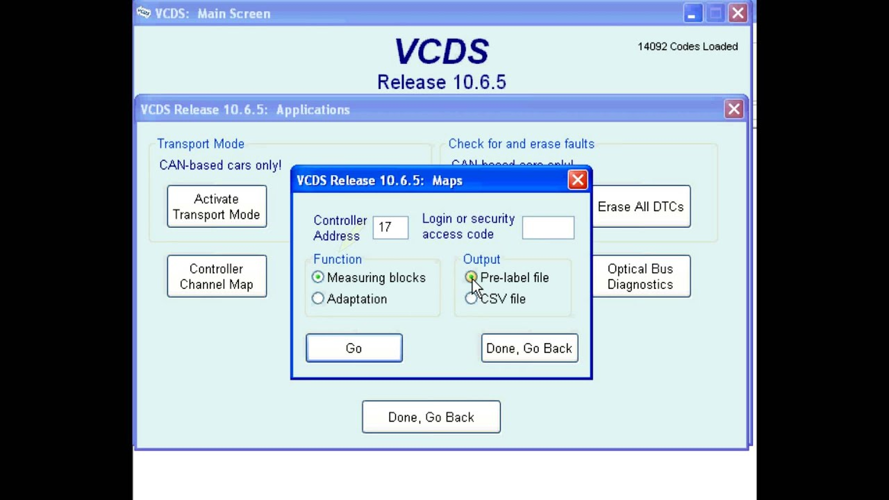 How to create Controller Channel Maps in VCDS