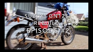 Taking the motorcycle apart l SUZUKI GN125 Rebuild - EPISODE 2