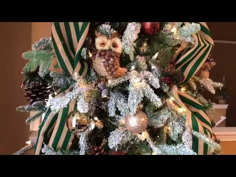 How To Decorate Rustic Flocked Christmas Tree