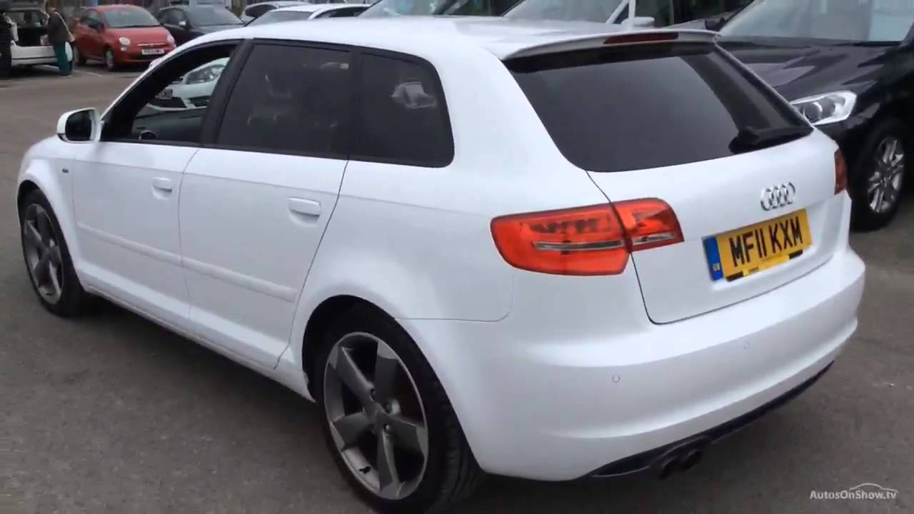 audi a3 sportback tdi quattro s line special edition white 2011 youtube. Black Bedroom Furniture Sets. Home Design Ideas