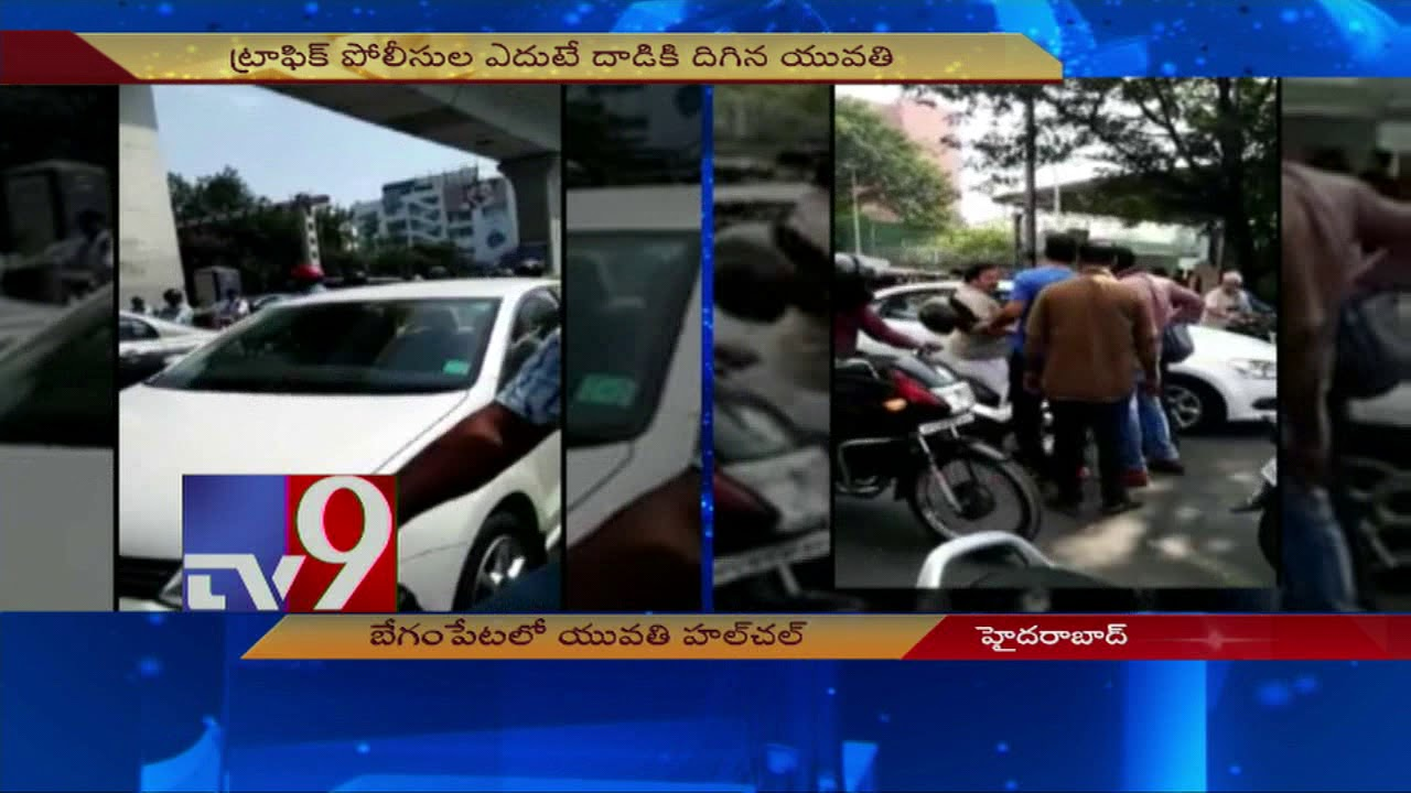 caught-on-camera-lady-rash-driving-at-begumpet-tv9