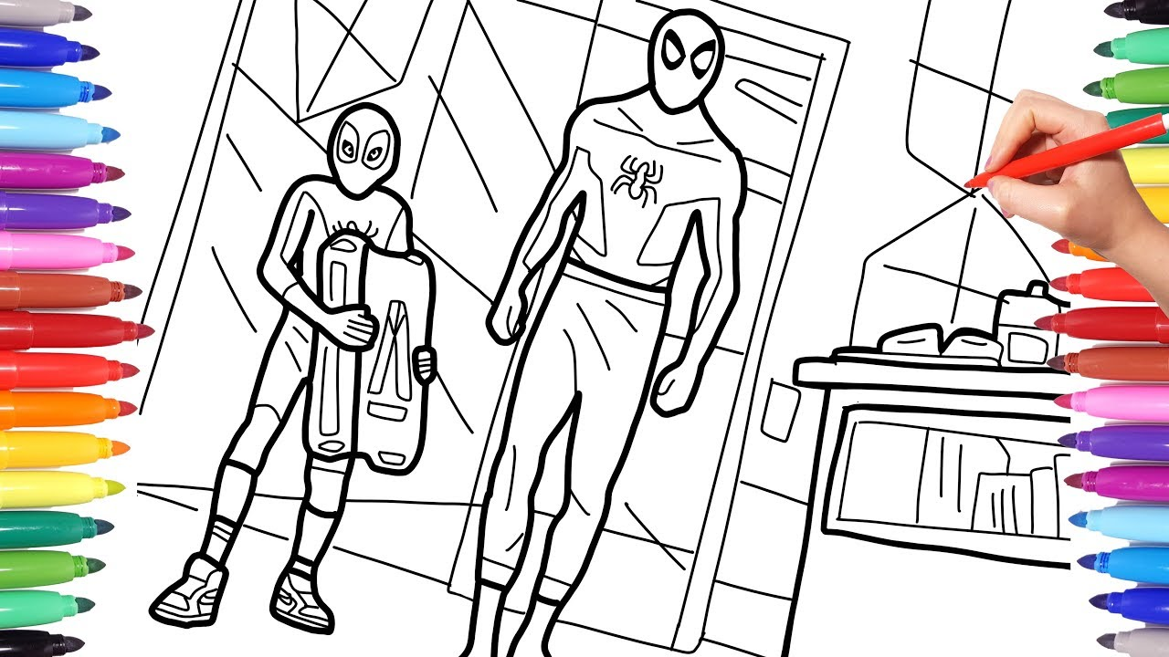 Spider Man Into The Spider Verse Coloring Pages Miles ...