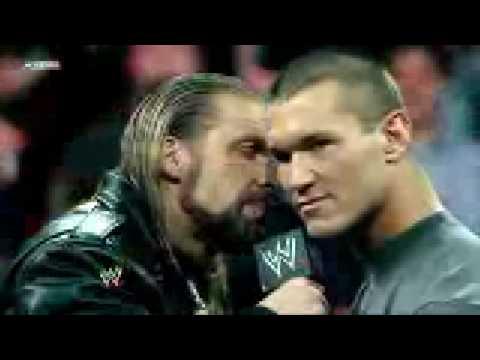 05 Triple H vs Randy Orton HighLights WrestleMania 25