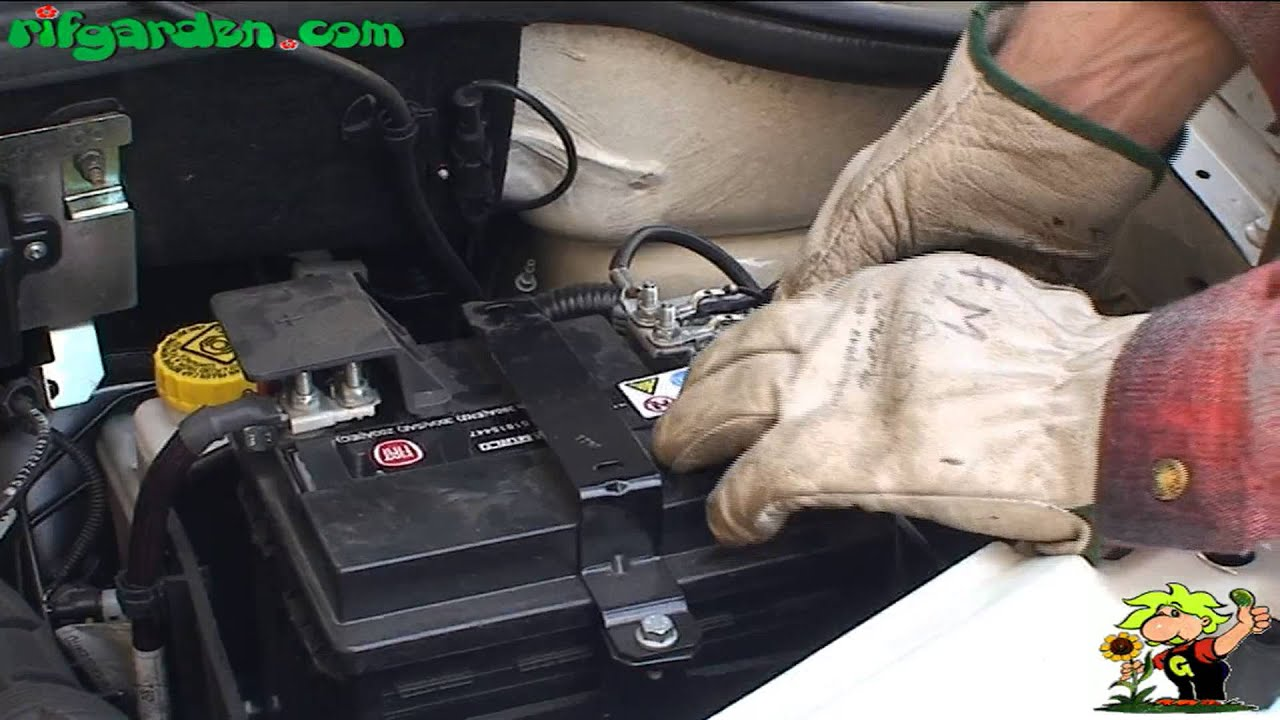 Checking The Water Level Of The Car Battery Youtube