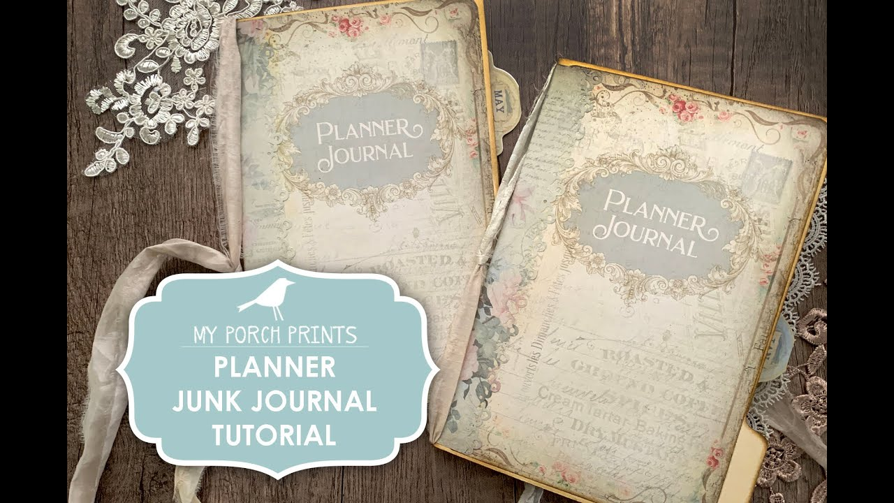 Planner Junk Journal Tutorial by My Porch Prints