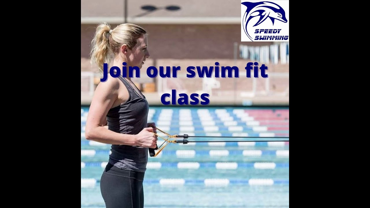 Join our WEEKLY swim bands core fit zoom training classes and Speedy Swim club!