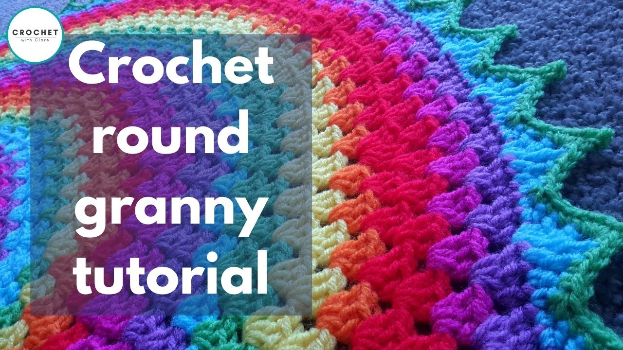 Crochet Baby Blanket Circular Pattern : Crochet Granny Round Rug / Blanket CAL Part 4 of 7 - YouTube