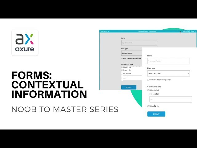 Contextual Input Fields in Forms | Axure RP: Noob to Master Ep8