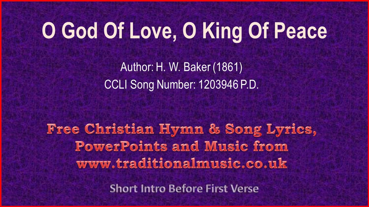 O god of love lyrics