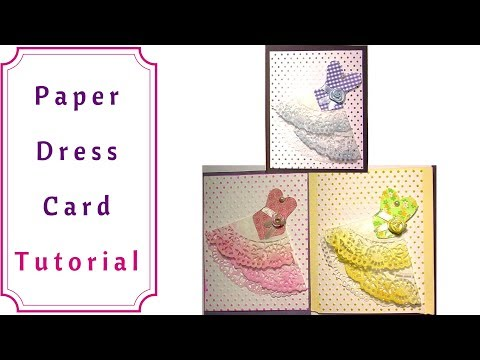 How to Make a Paper Dress Card : VERY Easy Tutorial
