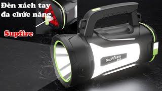 Đèn pin xách tay đa năng Supfire M15 ,có cổng sạc điện thoại,đi du lịch ,cắm trại ,cứu hộ,gia đình