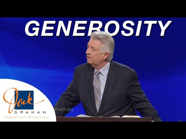 Generosity | PowerPoint with Dr. Jack Graham