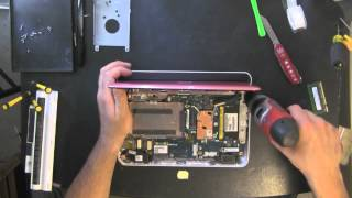 DELL Inspiron Mini 1012 netbook, laptop take apart, disassemble, how to open disassembly