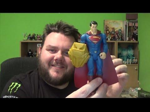 Superman Mattel Shielded Action Figure Review Batman V Superman: Dawn Of Justice Unboxing DC