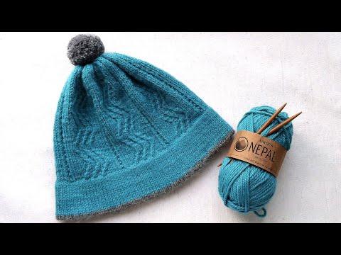 Вязание. Современная шапка. Подробный мк. //Knitting Mk. Hat.