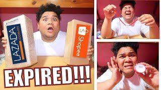 SINO ANG SCAM?!! LAZADA VS SHOPEE MYSTERY BOX | LC VLOGS #256