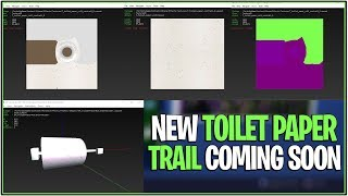 *NEW* Fortnite: LEAKED TOILET PAPER TRAIL/TOOL? | (Models Being Built)