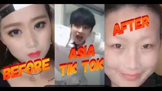 Tik Tok Dank Meme China Korea- ASIA No Makeup Challenge K-Pop Idols
