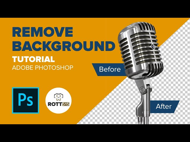 Adobe Photoshop - How to easily remove a background using channels