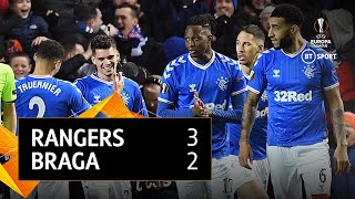 Rangers vs Braga (3-2) | UEFA Europa League highlights