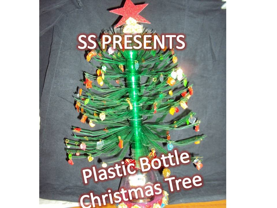 How to make christmas tree with plastic bottle christmas for Christmas decor using plastic bottles