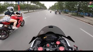 Ducati Super Sport - Khi Rider Nữ Gặp Giao Thông (Girl Rider Meet Police)
