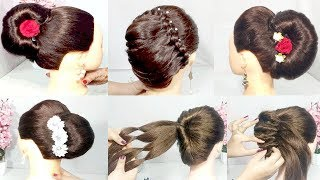5 easy and cute french bun hairstyle with trick | easy hairstyles | hairstyles for girls | hairstyle