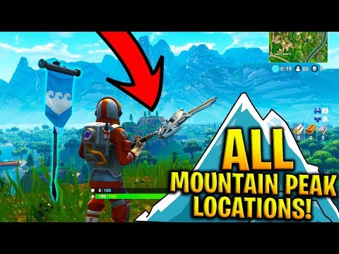 HOW TO COMPLETE SUMMIT MOUNTAIN PEAK CHALLENGE In FORTNITE! (ALL Mountain Peak Locations)