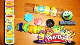 Набор пластилина для лепки из 10 баночек Play-Doh. Распаковка и краткий обзор.
