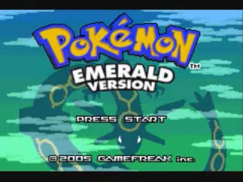 Pokemon Emerald World Link - Wild Pokemon Battle (Title Screen)