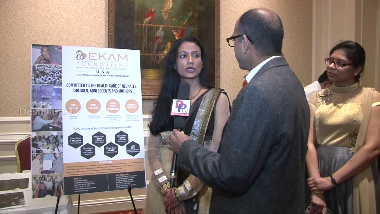 Dr.Neelima Reddy from EKAM Foundation speaking to Desiplaza TV at TIPS Annual Banquet 2016