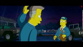 Момент из фильма Симпсоны в кино