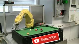 amazing! robot playing snooker