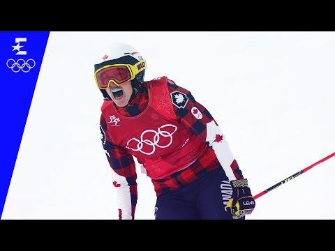 Freestyle Skiing   Ladies' Ski Cross Highlights   Pyeongchang 2018   Eurosport