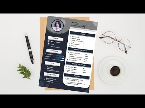 Cara Membuat CV yang Mudah & Menarik di Microsoft Word
