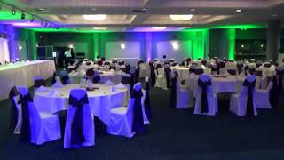 Up lighting, gobo/monogram projector, dance floor lighting explanation 9 15 2013