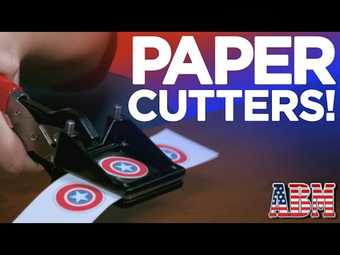 Paper cutters for making buttons from American Button Machines