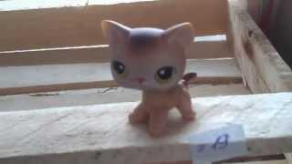 Кошка бежевая стоячая #19 с жёлтыми глазами без магнита