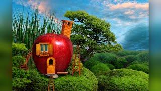 Сказочный коллаж в Фотошоп. Съедобный домик