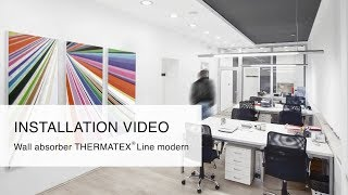 Installation Video Wall Absorber - THERMATEX Line modern