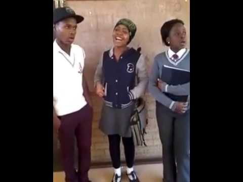Young  South African  stars singing at school