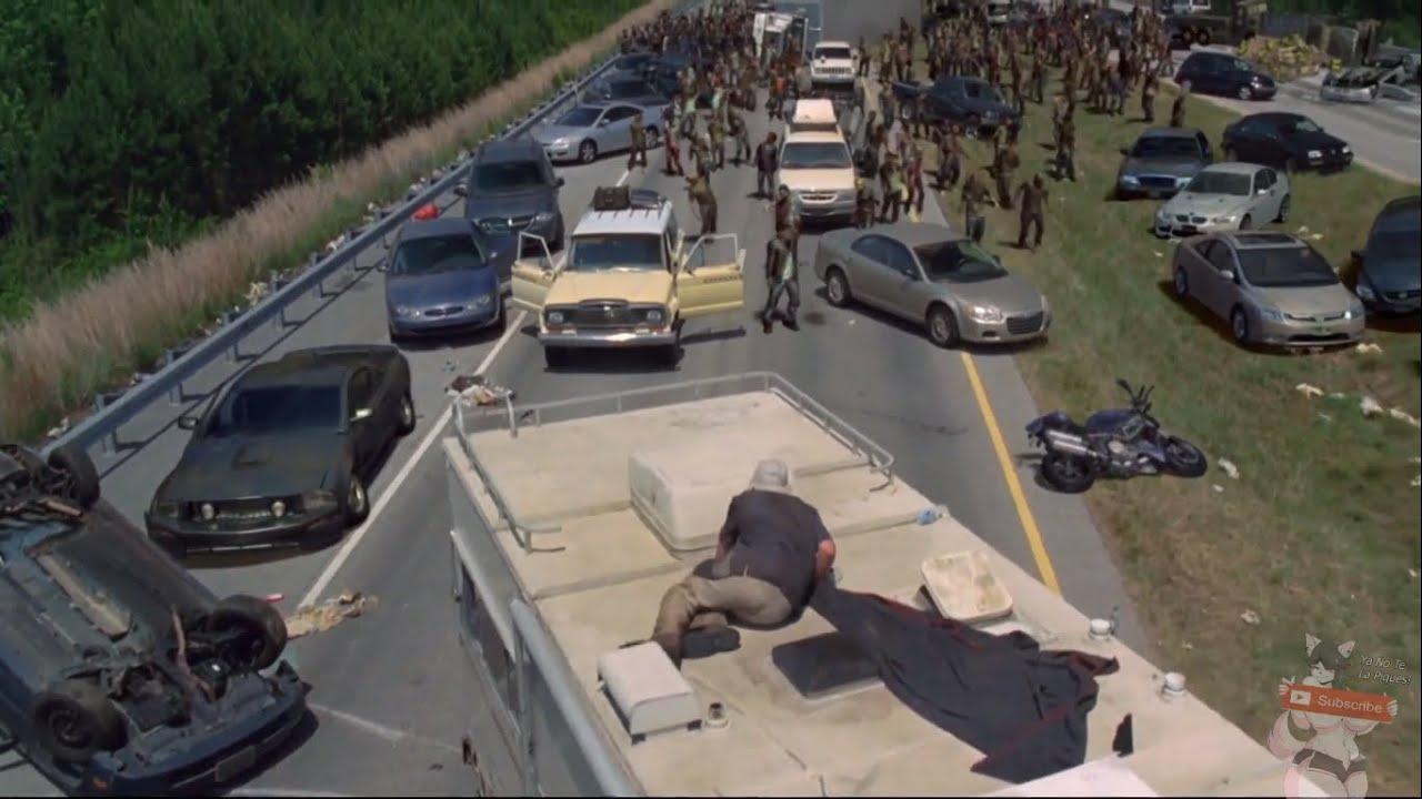 Download The Walking Dead - Horda de Caminantes en la Carretera de Atlanta (Latino)