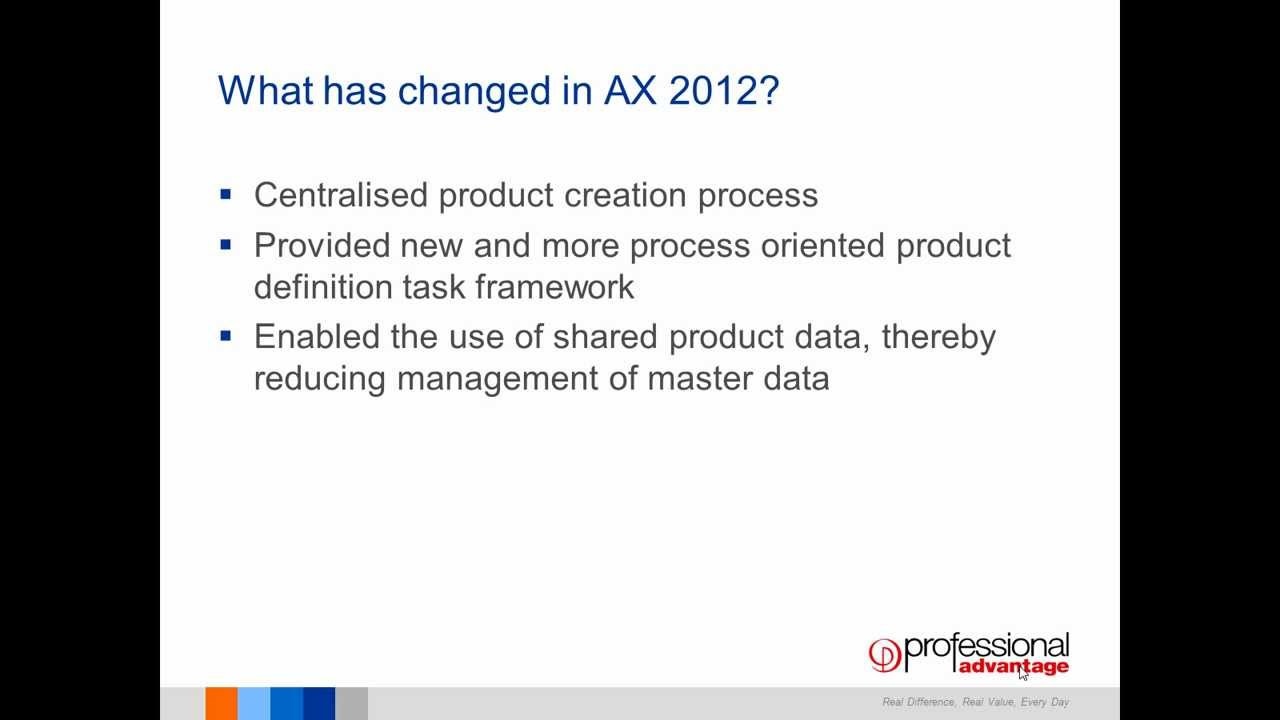 ax 2012 product info module New products are engineered in a sandbox which is a duplicate of the standard ax product tables since total engineering change management is a module in dynamics ax, you benefit from this integration to estimate the cost and price of new products.