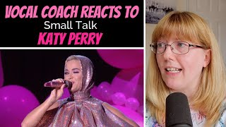Gambar cover Vocal Coach Reacts to Katy Perry 'Small Talk' LIVE